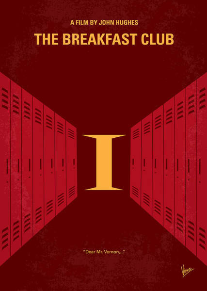 No309 My The Breakfast Club Minimal Movie Poster Poster