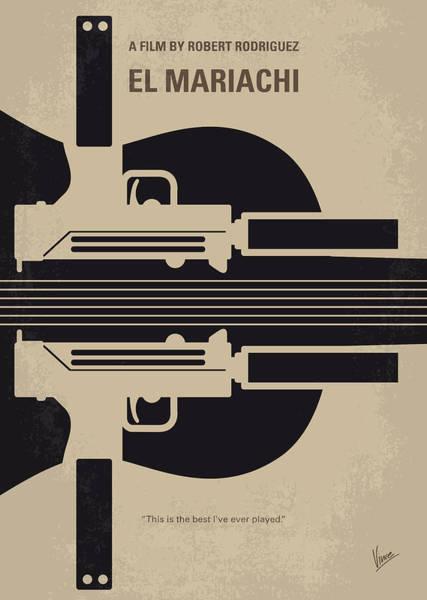 No445 My El Mariachi Minimal Movie Poster Poster
