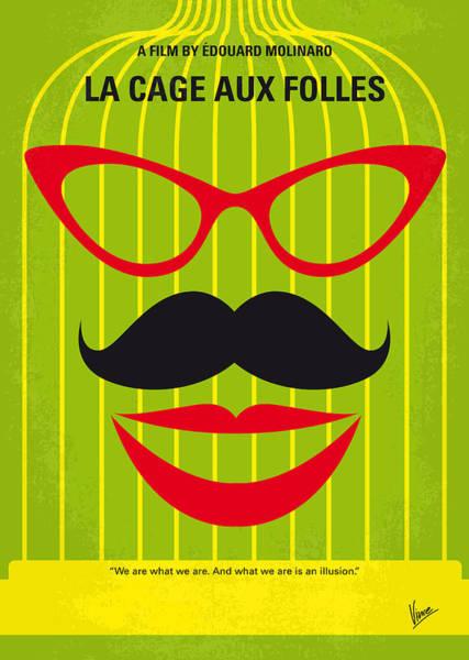 No473 My La Cage Aux Folles Minimal Movie Poster Poster