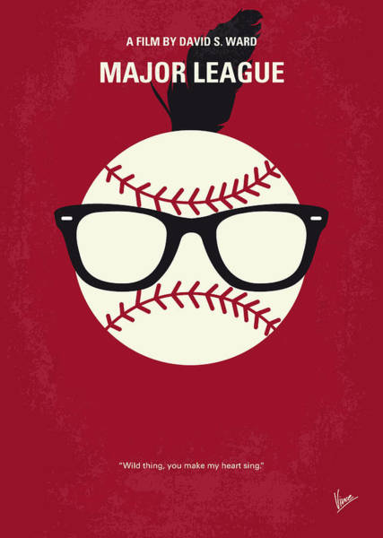 No541 My Major League Minimal Movie Poster Poster