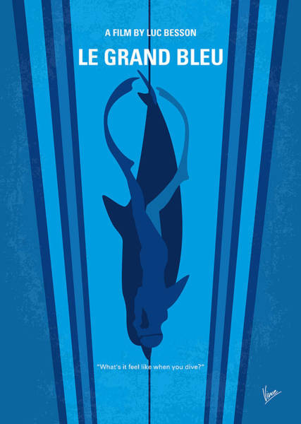 No577 My Big Blue Minimal Movie Poster Poster