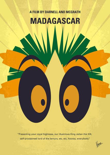 No589 My Madagascar Minimal Movie Poster Poster