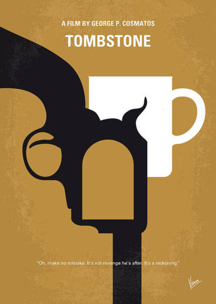 No596 My Tombstone Minimal Movie Poster Poster