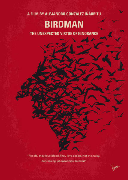 No604 My Birdman Minimal Movie Poster Poster