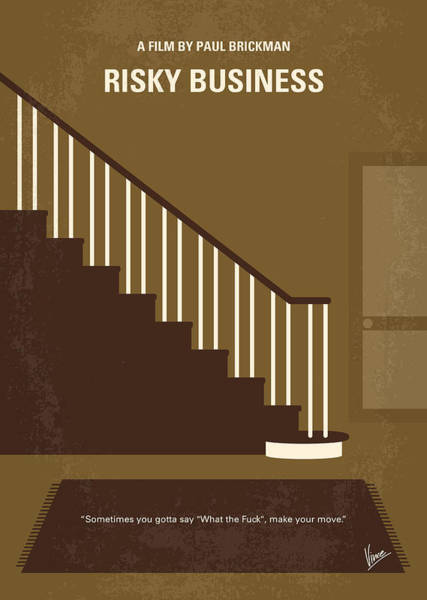 No615 My Risky Business Minimal Movie Poster Poster