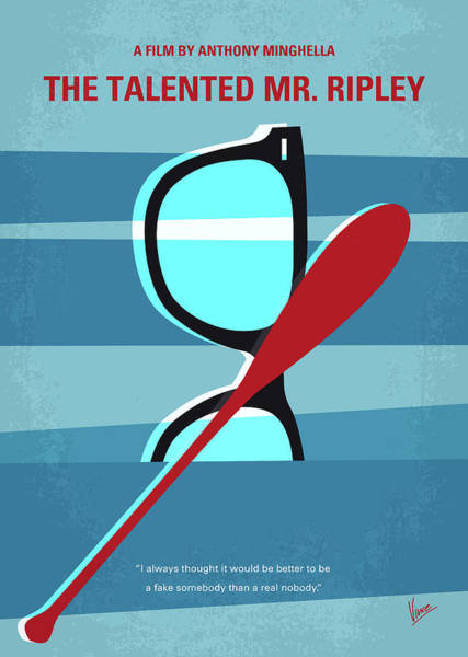 No694 My The Talented Mr Ripley Minimal Movie Poster Poster