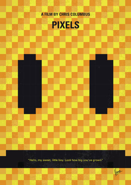 No703 My Pixels Minimal Movie Poster Poster