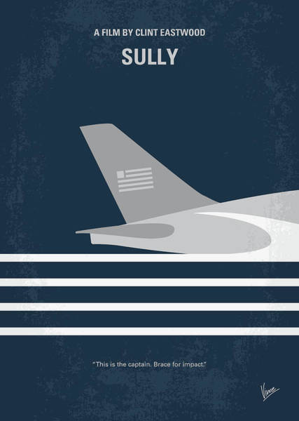 No754 My Sully Minimal Movie Poster Poster