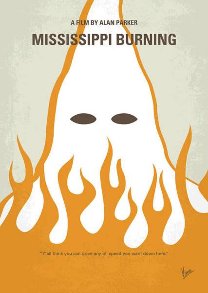 No882 My Mississippi Burning Minimal Movie Poster Poster