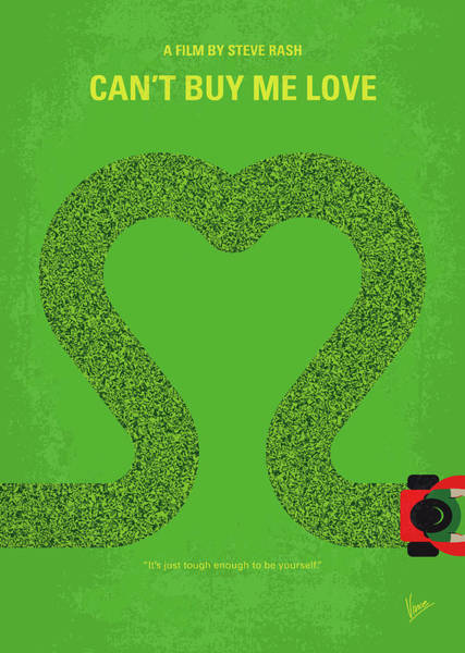 No894 My Cant Buy Me Love Minimal Movie Poster Poster