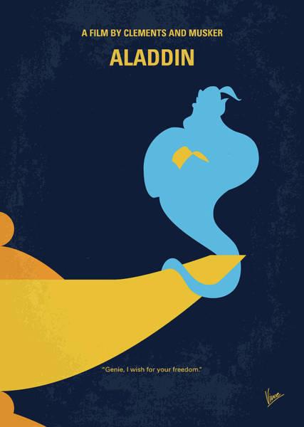 No920 My Aladdin Minimal Movie Poster Poster
