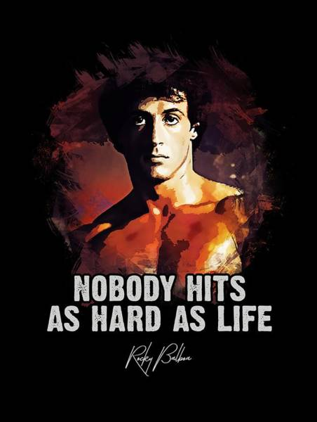 Nobody Hits As Hard As Life Poster