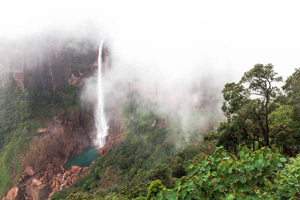 Nohkalikai Falls, Cherrapunji, Meghalaya, India Poster