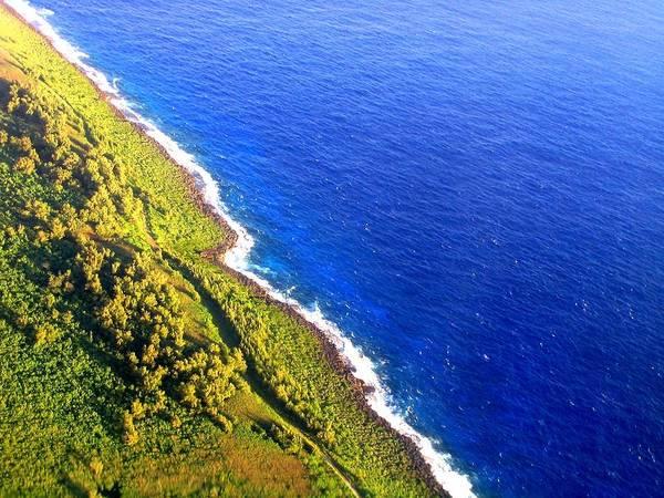 North Coast Of Tinian At Sunrise Poster