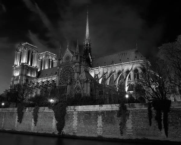 Notre Dame By Night, Paris, France Poster