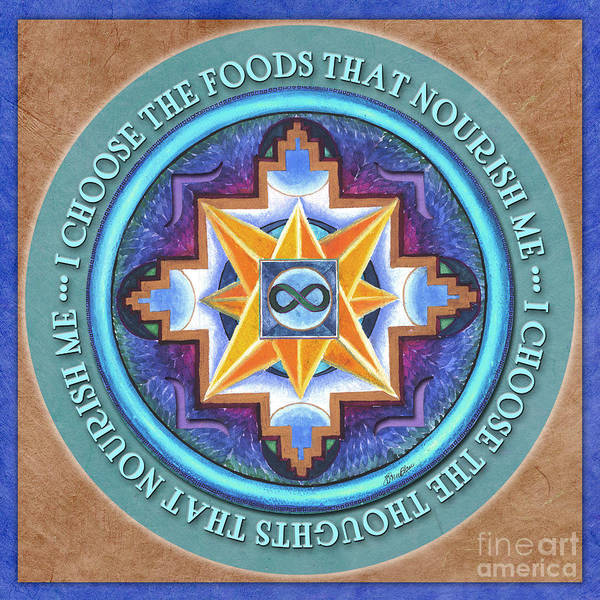 Nourish Mandala Prayer Poster