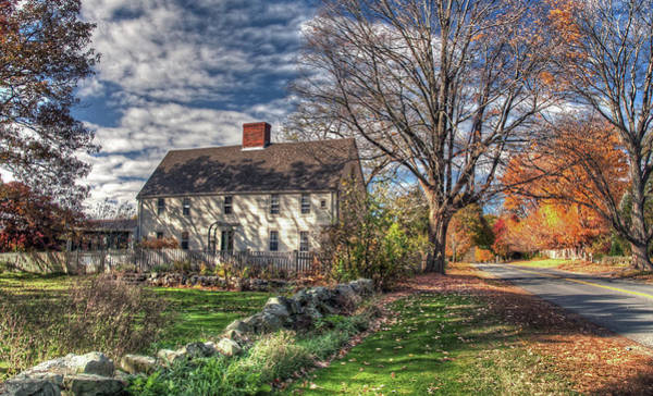 Poster featuring the photograph Noyes House In Autumn by Wayne Marshall Chase