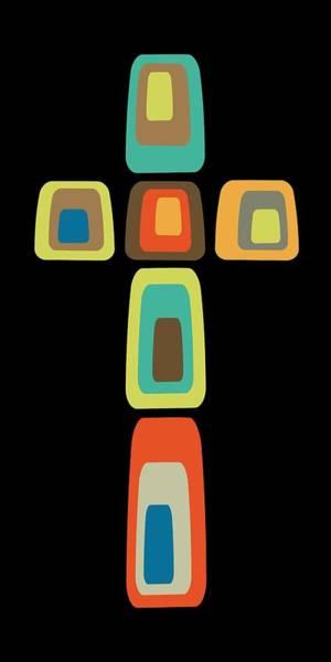 Oblong Cross Poster
