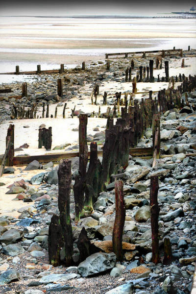 Obsolete Sea Defences At Llanfairfechan Poster
