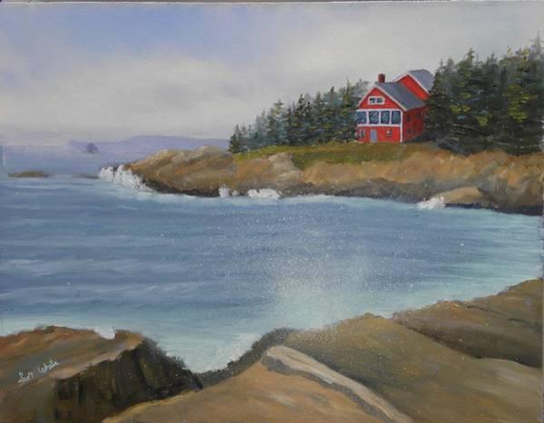 Ocean Cottage Poster