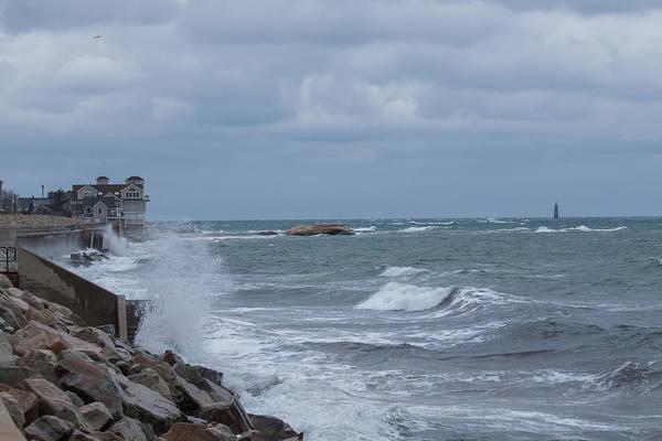 Ocean Waves At Minot Beach Poster