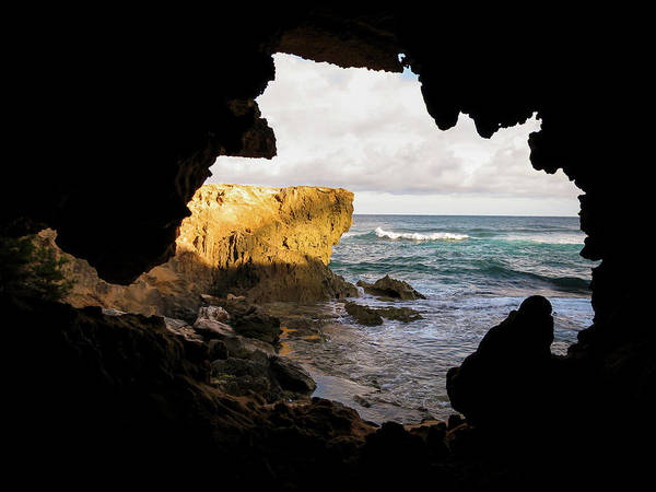 Oceanfront Cave Poster