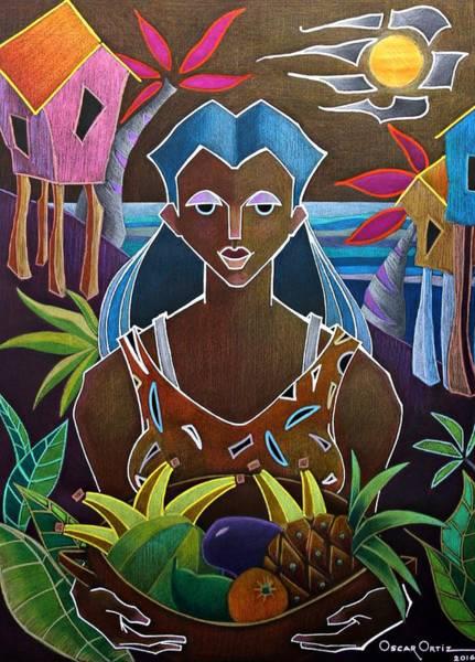 Poster featuring the painting Ofrendas De Mi Tierra II by Oscar Ortiz