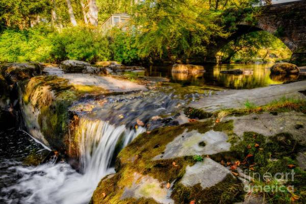 Ogwen Bank Waterfall  Poster