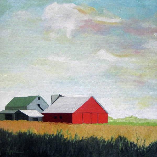 Ohio Farmland- Red Barn Poster