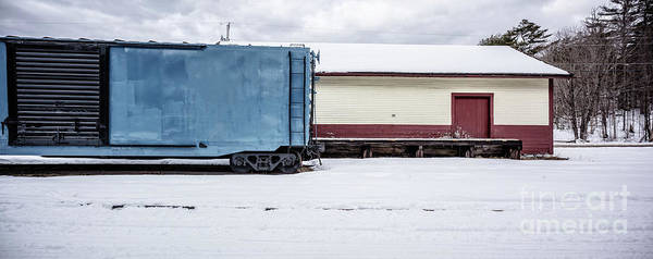 Old Box Car At A Freight Station Poster