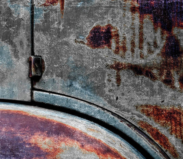 Old Car Weathered Paint Poster