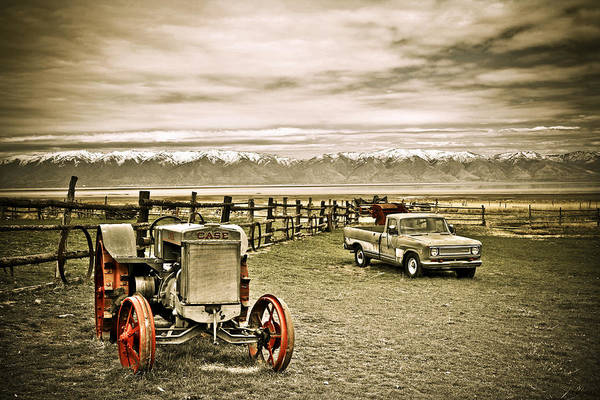 Old Case Tractor Poster