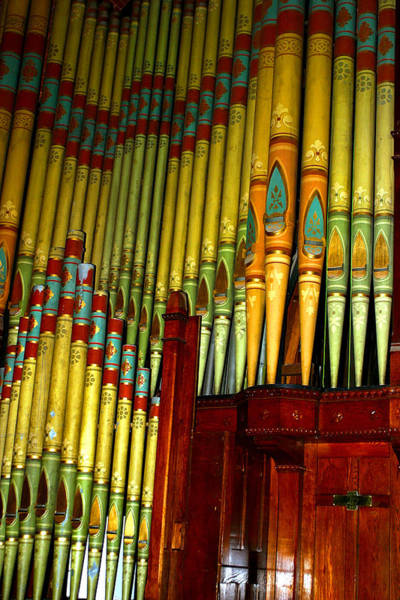 Old Church Organ Poster