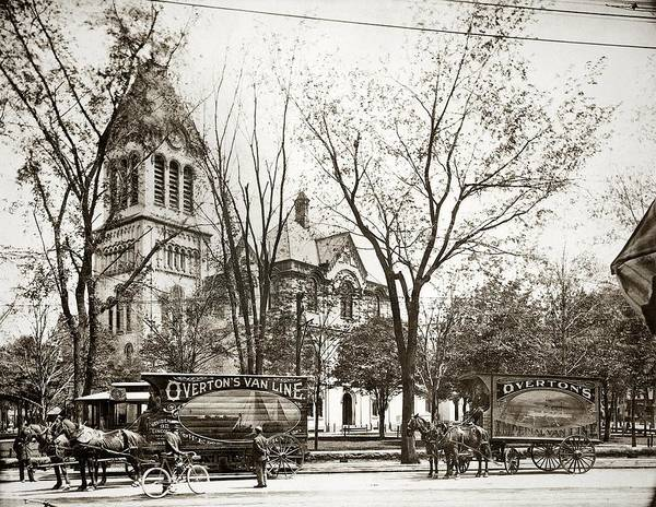 Old Courthouse Public Square Wilkes Barre Pa Late 1800s Poster