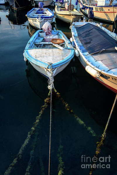 Old Fishing Boats Of The Adriatic Poster