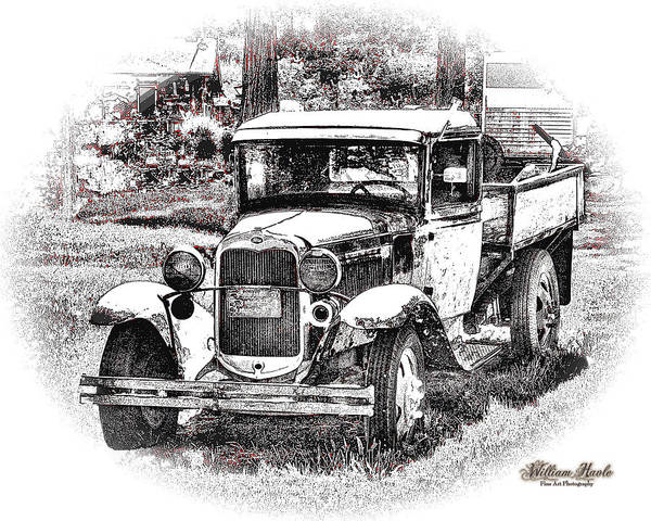 Poster featuring the photograph Old Ford Homemade Pickup by William Havle