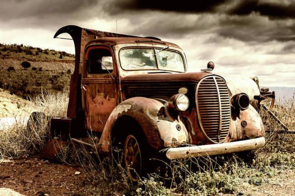 Old Ford Truck In Desert Poster