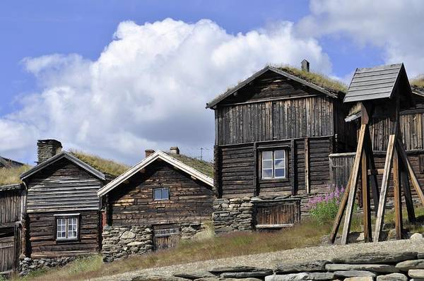 Old Houses In Roeros Poster