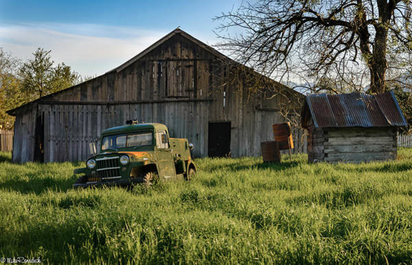 Old Jeep, Old Barn Poster