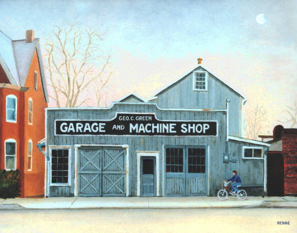 Old Machine Shop Poster