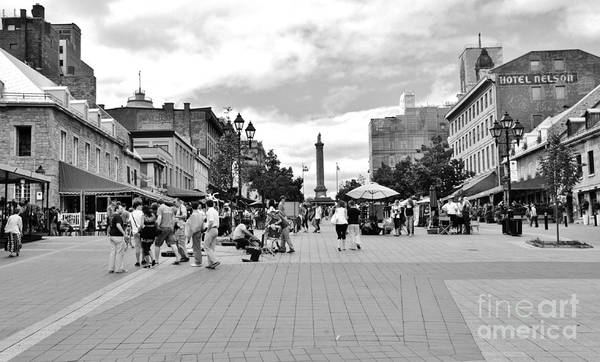 Old Montreal Jacques Cartier Square Poster