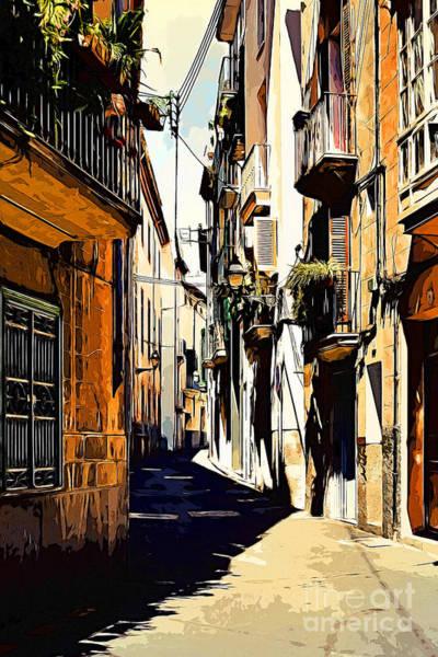 Old Spanish Street Poster