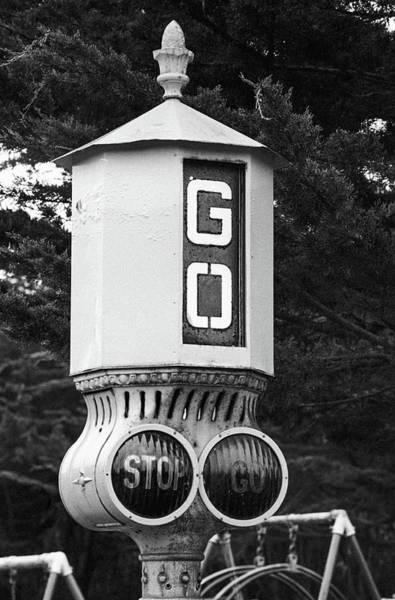 Old Traffic Light Poster