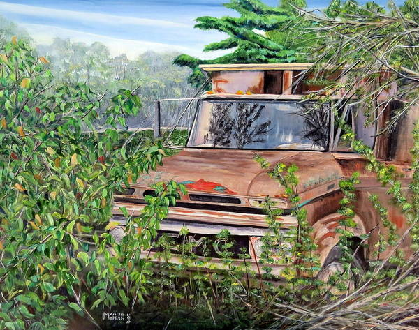 Old Truck Rusting Poster