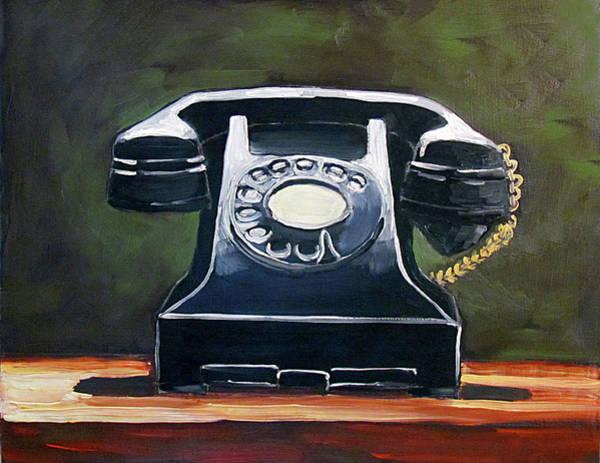 Old Vintage Phone Poster