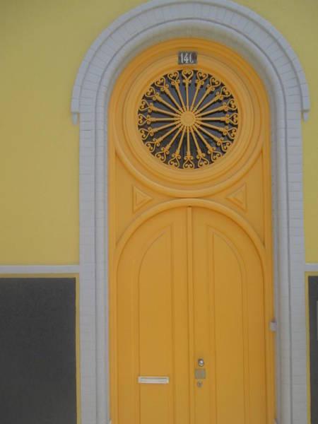 Old Yellow Door Poster