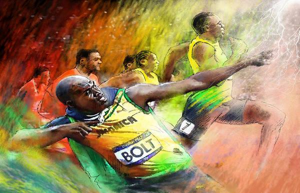 Olympics 100 M Gold Medal Usain Bolt Poster