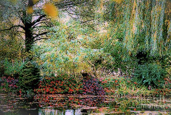Reflection On, Oscar - Claude Monet's Garden Pond Poster