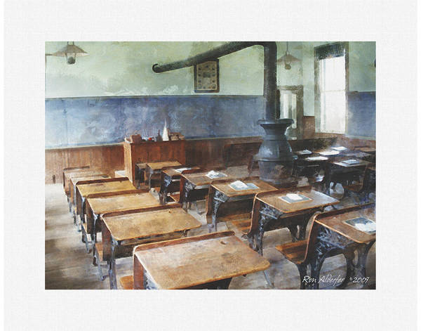 One Room School Interior Poster
