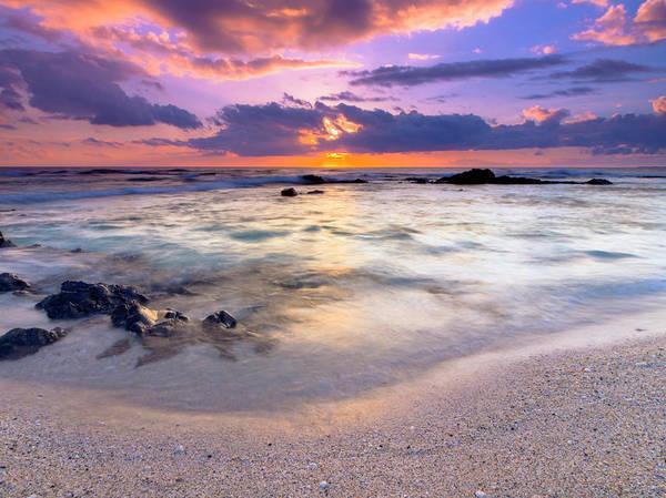 O'oma Beach Sunset Poster